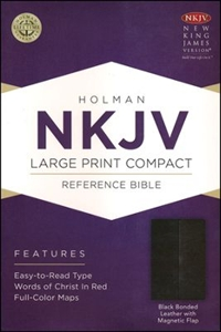 Picture of Large Print Compact Reference Bible-NKJV-Magnetic Flap - Large Print