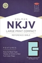 Picture of Large Print Compact Reference Bible-NKJV-Magnetic Flap