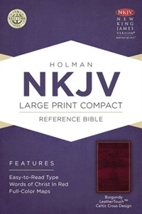 Picture of Large Print Compact Reference Bible-NKJV-Celtic Cross