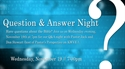 Picture of Question & Answer Night