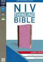 Picture of NIV, Thinline Bible, Large Print, Imitation Leather, Pink, Red Letter Edition (Special) - Large Print