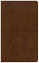 Picture of NKJV Ultrathin Reference Bible, Brown Deluxe Leathertouch