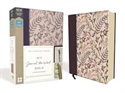 Picture of NIV, Journal the Word Bible, Cloth Over Board, Pink Floral, Red Letter Edition, Comfort Print